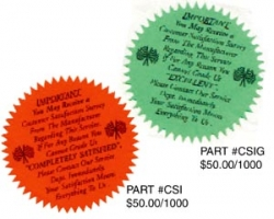 CSI Repair Order STICKERS