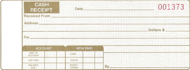 personalized cash receipt books auto sales shop supplies