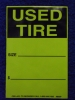 Tire Tags - 500 per roll  (Fluorescent)
