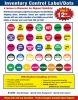 "Inventory Control Labels/Dots   ( 500/roll )                             4"" Diameter"