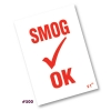 Smog Check OK  Reminder Static Cling