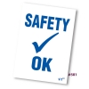 Safety Check OK  Reminder Static Cling